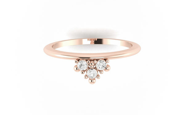 bague mariage diamant saphir blanc