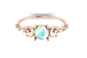 bague fiancailles opale